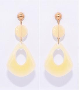 resin hoop waterdrup oorbellen