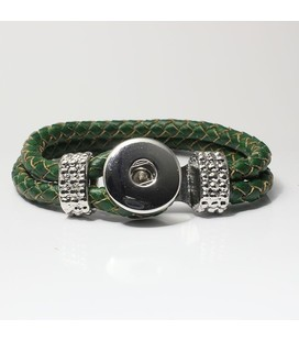 leren 1 click armband groen 19