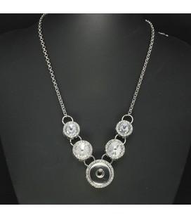 STUNT   ketting voor 1 click   met kristallen strass