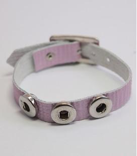 mini click gesp band roze