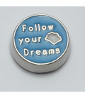 Charm Follow your dream blauw