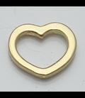 Charm open hart goud