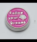 Charm Follow your dream donkerroze