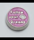 Charm Follow your dream roze