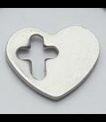 Charm hart met kruis