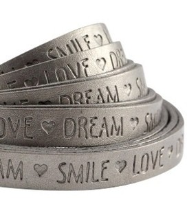 band Love Dream . Metallic silver grey