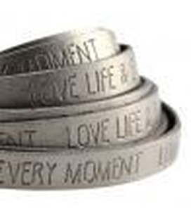 band Love.. Metallic silver grey