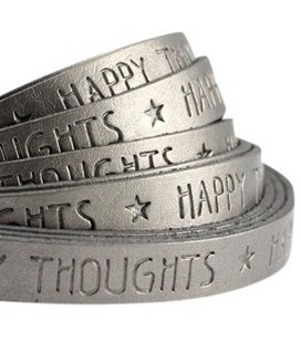 band Happy .. Metallic silver grey