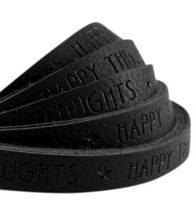 band Happy thoughts Black