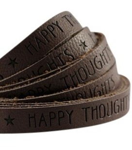 band Happy thoughts  chocolate brown