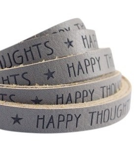 band Happy thoughts Taupe grijs