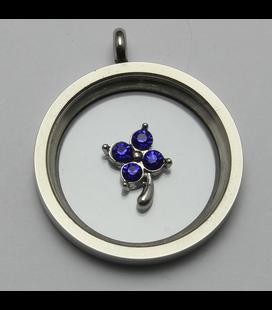 Charm bloem blauw