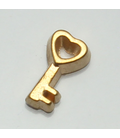 Charm Sleutel goud