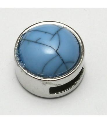 cuoio schuiver 8mm blauw