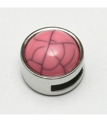 cuoio schuiver 8mm roze