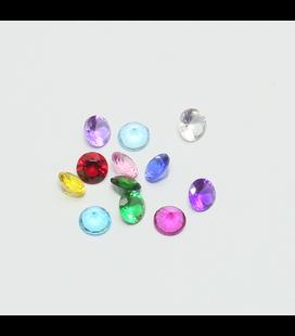 Charm 12 gekleurde kristallen