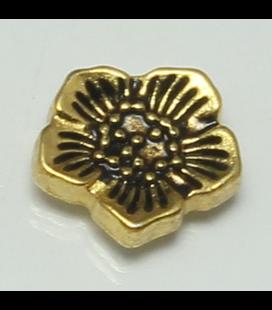 Charm bloem goud