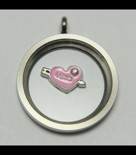 Charm Hart 'Love' met pijl roze