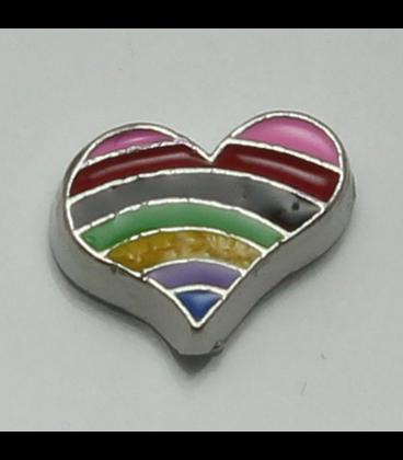 Charm hart - regenboog