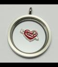 Charm Hart 'Love' met pijl rood