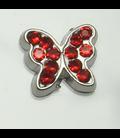 Charm vlinder rood
