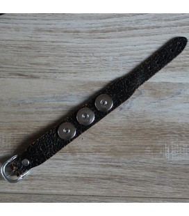 hand made robuuste band crackel bruin