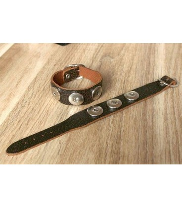 hand made robuuste click band wit