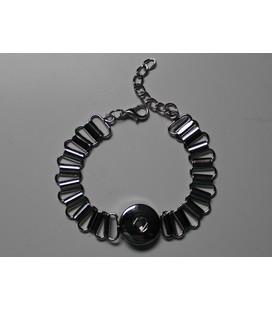 metalen 1 click armband