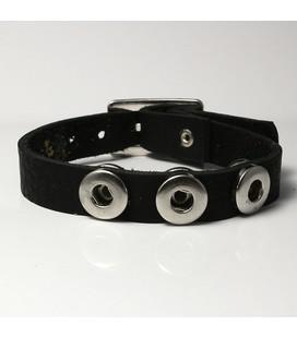 mini click gesp band  zwart