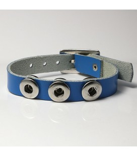 mini click gesp band  blauw