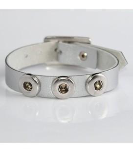 mini click gesp band  zilver