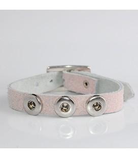 mini click gesp band  roze  crackel