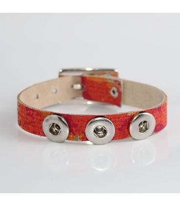 mini click gesp band parelmoer zilver