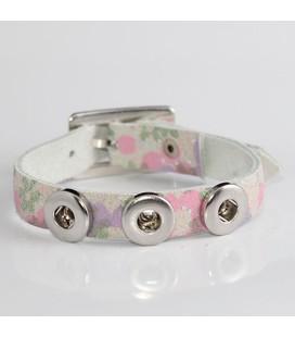 mini click gesp band bloemen glitter