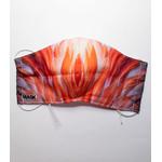 katoenen mondkapje oranje met hoofd of oor elastiek
