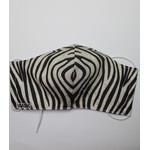 katoenen mondkapje Zebra 2 met hoofd of oor elastiek
