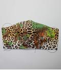 katoenen mondkapje tijgerprint met hoofd of oor elastiek
