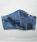katoenen mondkapje Jeans met hoofd of oor elastiek