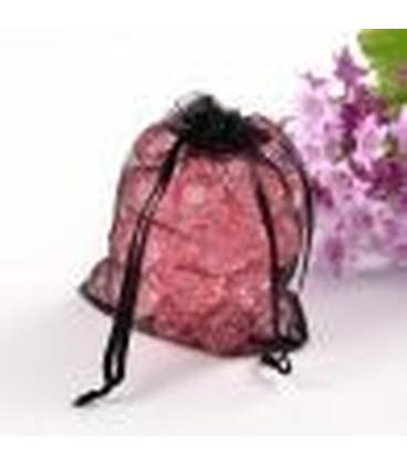 organza zakje roze 10 x7.5cm