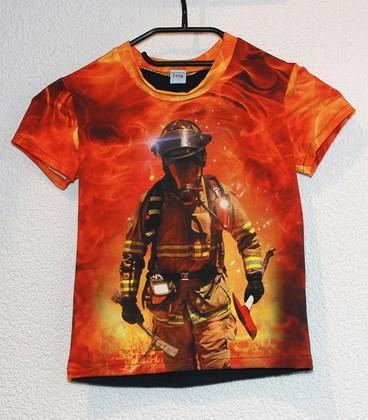 Shirt korte mouwen brandweerman