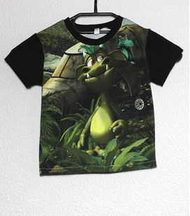 Shirt korte mouwen draakje in jungle