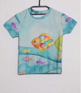Shirt korte mouwen Vis