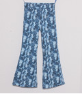 Flaired Broek 'Blue Snake' met verstelbare taille band