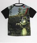 Shirt korte mouwen draakje in jungle