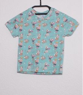 Shirt korte mouwen Vosjes (met poppenjurkje)