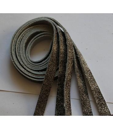 Leerstroken 5x45cm 10mm breed grijs