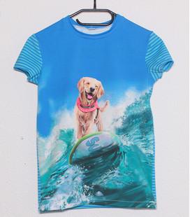 Shirt met korte mouwen  'Surfhond'