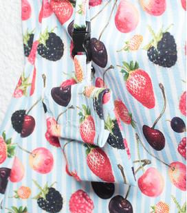 Rokje 'blauw met fruit'
