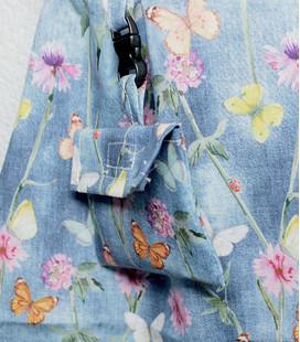 Rokje vrolijke vlinders met bloemen