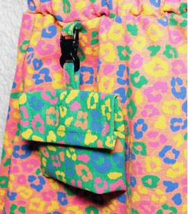Rokje tijger print roze groen blauw en geel